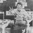 Vサインで初代チャンピオンの喜びを表す村上隆(週刊アサヒゴルフ1975.6.5号より)